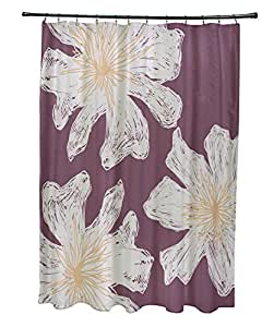 Ebydesign So Nr19 Plum Peach Floral Shower Curtain Multicolor Home Kitchen