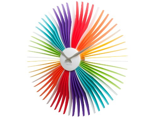 Karlsson Wall Clock Oopsy Daisy, Multi Colour, Acrylic