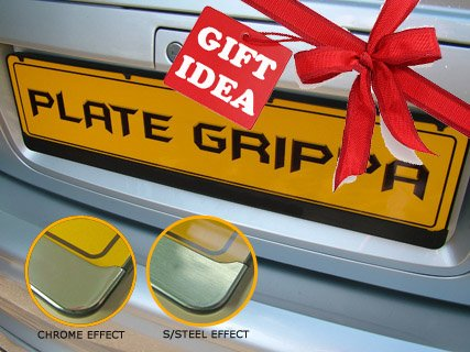 Plate Grippa Number Plate Carrier / Holder / Surround [CHROME-EFFECT TRIM]