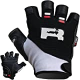 Authentic RDX Leather Gel Weight lifting Fitness Training Gloves Gym wb