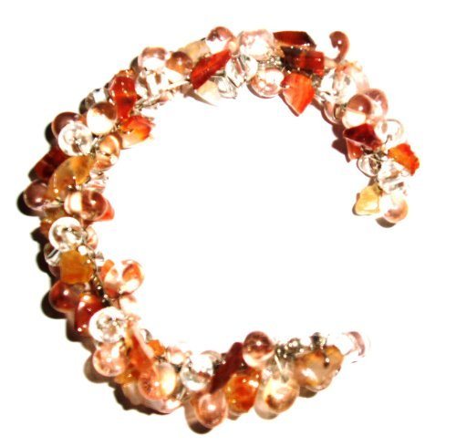 Tribe Peach flexible bead bracelet (one size fits all)