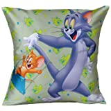 MeSleep Warner Brother Digitally Printed Tom And Jerry Cushion Cover - Multicolor (WBtj-S-03-16)