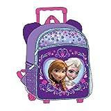 12 Disney Frozen Small Rolling Backpack w/ Wheels ~ Princess Anna & Elsa