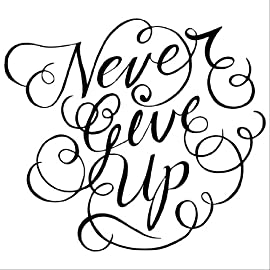Never Give Up wall saying vinyl lettering home decor decal stickers quotes