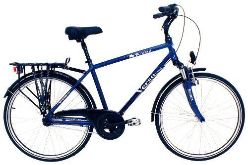 Verso Men's Roma 3-Speed City Bike (Harbor Blue, 19-Inch)