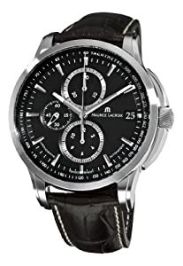 Maurice Lacroix Men's PT6128-SS001330 Pontos Black Chronograph Dial Watch by Mauser
