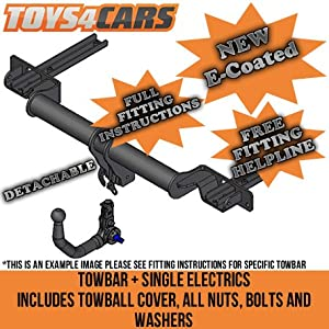 Tow Trust TA1011VK-AB190 Detachable Tow Bar with Universal Single Electrics