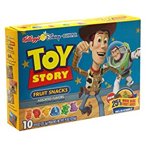Kellogg's Disney Fruit Snacks, Toy Story, Assorted Flavors, 9-Ounce Box