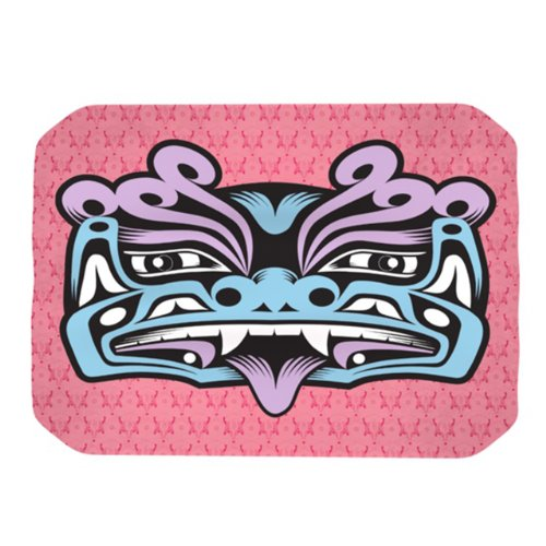 Kess Inhouse Louie Gong Blue Fu Dog Placemat, 18 By 13-Inch