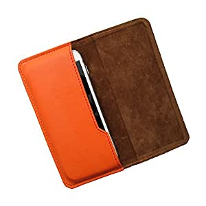 i-KitPit : PU Leather Flip Pouch Case For Sony Xperia M2 Dual (ORANGE)