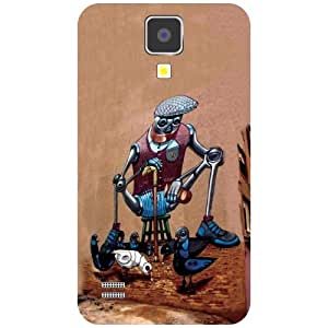 Samsung I9500 Galaxy S4 Phone Cover -Traditional Art Matte Finish Phone Cover