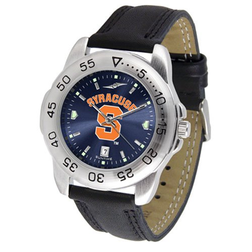Suntime Syracuse Orangemen Ncaa Anochrome Sport Mens Watch Leather Band