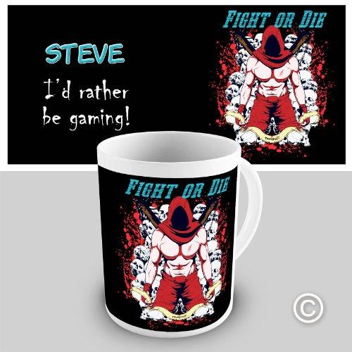Personalised Gaming Fight Or Die Gift Coffee Mug
