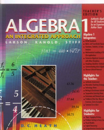 Algebra 1: An Integrated Approach, Teacher's Edition