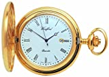 Woodford Quartz Full-Hunter Pocket Watch, 1207, Men's Gold-Plated  with Chain (Suitable for Engraving)
