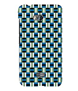 printtech Pattern check Back Case Cover for Micromax Bolt Q336
