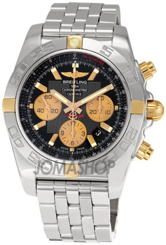Breitling Chronomat B01 Black Dial Chronograph Mens Watch IB011012-B968SS