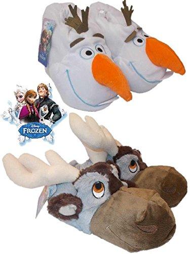 Pantofole moppine Disney Frozen Olaf e Sven De Fonseca *22178-22-24-marrone