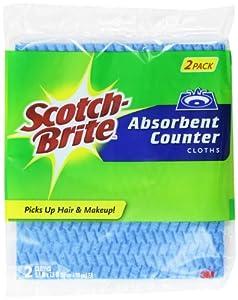 Scotch-Brite Absorbant Vanity Cloth 9055B-2, 2-Count