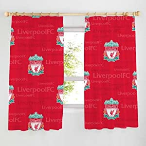 "Liverpool FC Echo Curtains 54"" Drop"
