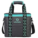 Insulated Specialized PTP Insulated Water Proof Lunch Box Bag Cooler Tote Travel Camping Picnic Bag Breast Milk Storage Carring Shoulder Bag Lunch Bag Large Capacity 12L 291725cm Dark Grey