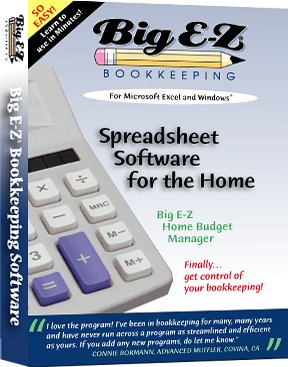 Big E-Z Home Budget Manager for Microsoft Excel [OLD VERSION]