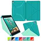 roocase Google Nexus 9 Case - Origami 3D Nexus 9 8.9 inch Slim Shell Folio Case Smart Cover with Auto Sleep/Wake for Google Nexus 9 Tablet (8.9-inch), Turquoise Blue / Mint Candy