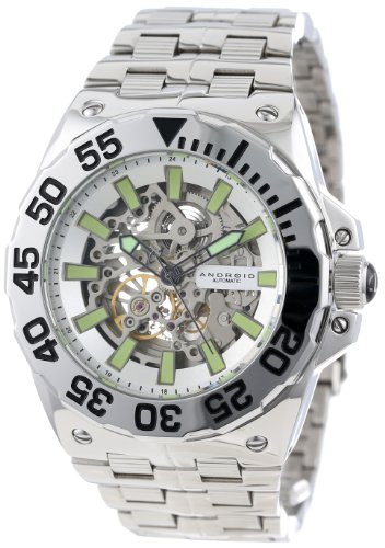 Android Men's AD649AS Corsair Skeleton Automatic Limited Edition Polished Turning Bezel Watch