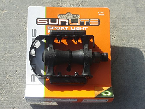 SUNLITE SPORT LIGHT PEDALS ROAD MOUNTAIN BIKE BICYCLE BLACK 9/16 - NEW