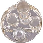 "German Silver Plated Pooja Plate Pooja Thali Pooja Articles Dealer Silver Wilver Silver Plated 6"" Pooja Plate..."