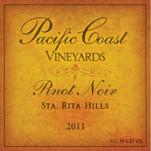 2011 Pacific Coast Vineyards Santa Rita Hills Pinot Noir 750 Ml