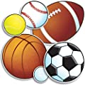 Scholastic TF3283 Sport Balls Accent Punch-Outs
