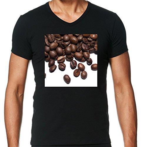camiseta-negro-con-v-cuello-para-los-hombres-tamano-m-grano-de-cafe-by-wonderfuldreampicture