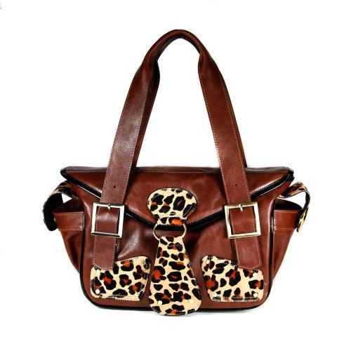 Mia Bossi Maria Diaper Bag, Leopard front-273799