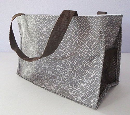 Thirty-One Bag Mini All In One Organizer Grey Pin Dots front-141819