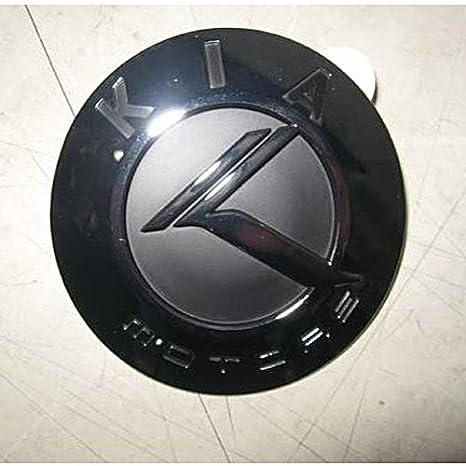 Kia Motors Genuine Hood Trunk K Logo Black & Chrome Emblems 1-pc Set