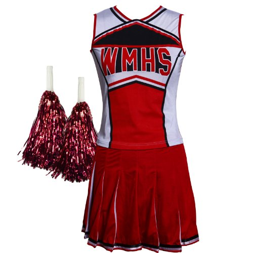glee-style-high-school-musical-cheerio-cheerleader-fancy-dress-outfit-w-pom-poms-free-postage