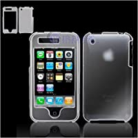 PCMICROSTORE Brand Apple iPhone 3G Translucent Clear Snap-On Case Cover with Screen Protector