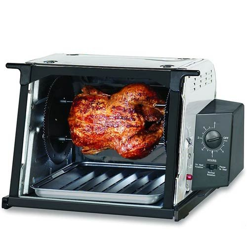 Find Bargain Ronco ST3001SSGEN Showtime Compact Rotisserie and Barbeque Oven, Stainless Steel
