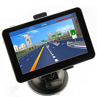 "eBoTrade-Tech 5"" Car GPS Navigation Touch Screen FM MP3 MP4 4GB New Map WinCE6.0"