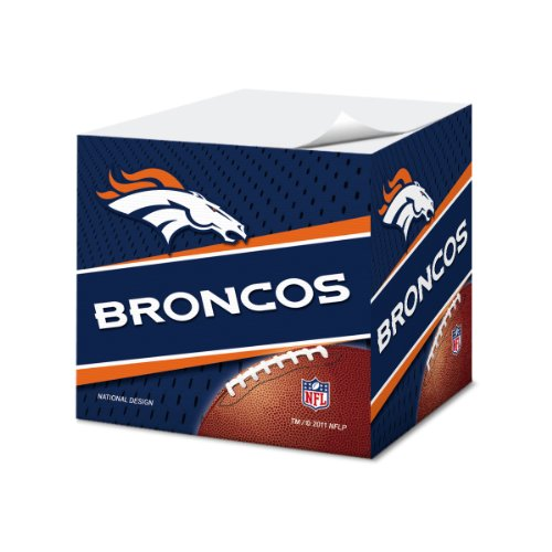 Denver Broncos 2.75-Inch Sticky Note Cube, 550 pages - NFL (CUS-QUH)