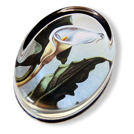 calla-lily-oval-glass-paperweight