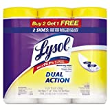Lysol Dual Action Disinfecting Wipes Value Pack, Citrus, 105 Count