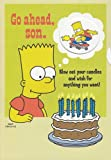 Greeting Card Birthday Simpsons Go Ahead, Son. Blow Out Your Candles and Wish for Anything You Want