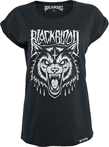 Black Blood Grim Wolf Maglia donna nero S