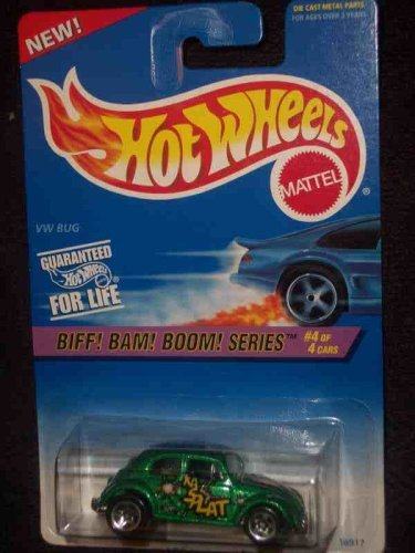 Biff! Bam! Boom! Series #4 VW Bug #543 5-Spokes With HW Logo 1st Base Mint 1:64 Scale