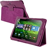 Purple Folio PU Leather Case Cover Pouch for Blackberry Playbook