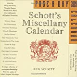 Schott's Miscellany Page-A-Day Calendar 2009 (Page-A-Day Calendars) (0761149406) by Schott, Ben
