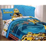 "Despicable Me ""1 in a Minion"" Microfiber Twin Comforter WITH SHAM"