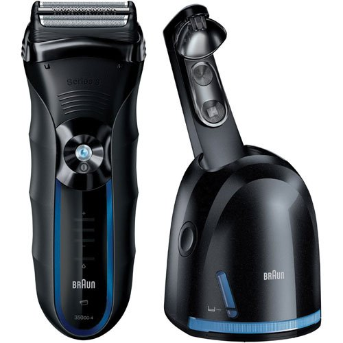 Braun WATERPROOF DUAL VOLTAGE Cordless Shaver Triple Action Cutting and FreeFloat System with SensoFoil Technology, Precision Long Hair Trimmer and 100% Waterproof, All NEW Clean & Renew System Included (Braun Series 3 Hair Clipper compare prices)